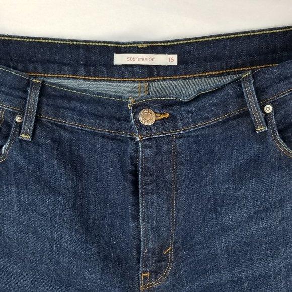Levis 505 Straight Size 16 Jeans 33X30 Denim Jeans
